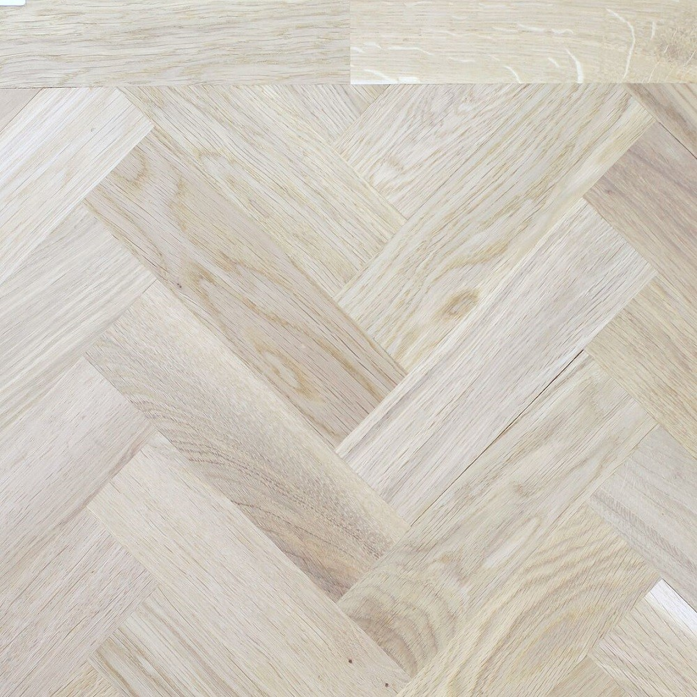Livigna Herringbone SOLID OAK  RUSTIC Flooring Unfinished 70 x350mm