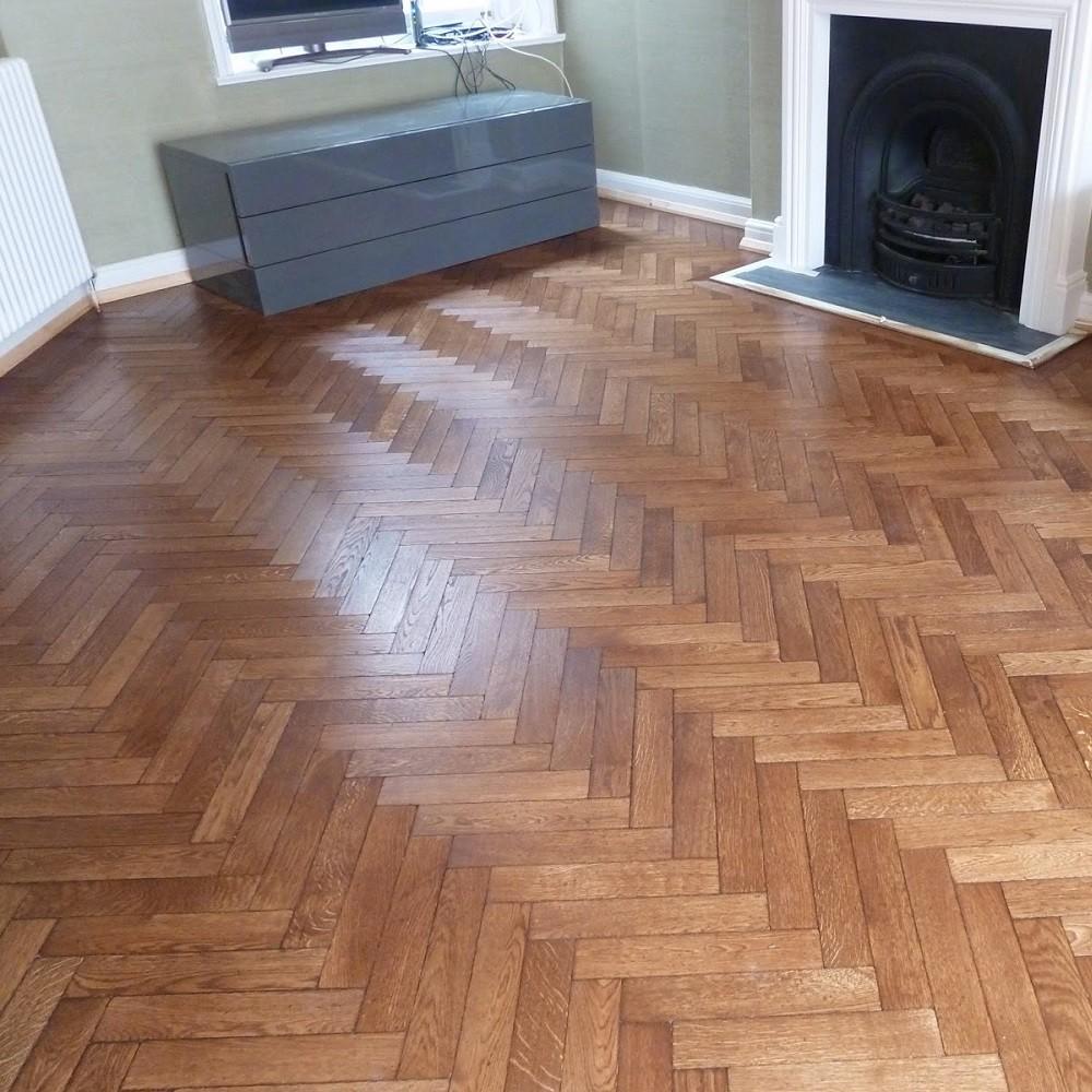 Livigna Herringbone Solid Merbau Parquet Natural Flooring