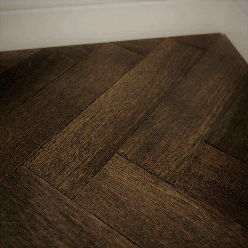 CAPRIO DURHAM Oak Rustic Distressed & Oiled Parquet , Brown