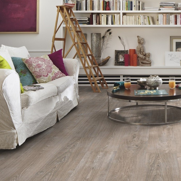 MEISTER GERMAN QUALITY LAMINATE FLOORING LD300 | 25 MELANGO COLLECTION WHITE GREY OAK 9MM