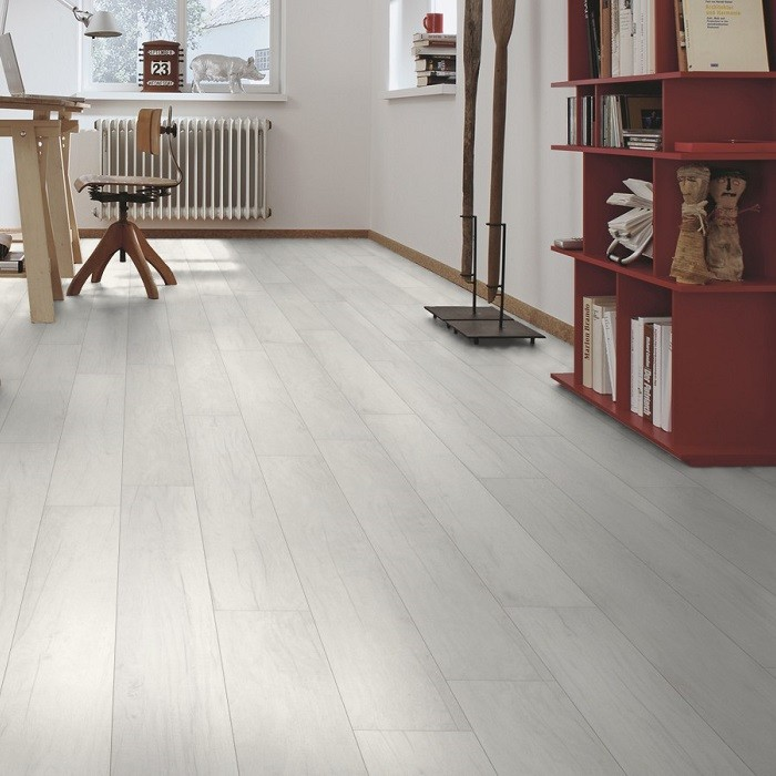 MEISTER GERMAN QUALITY LAMINATE FLOORING LS300 TALAMO COLLECTION OPAQUE WHITE OAK 8MM