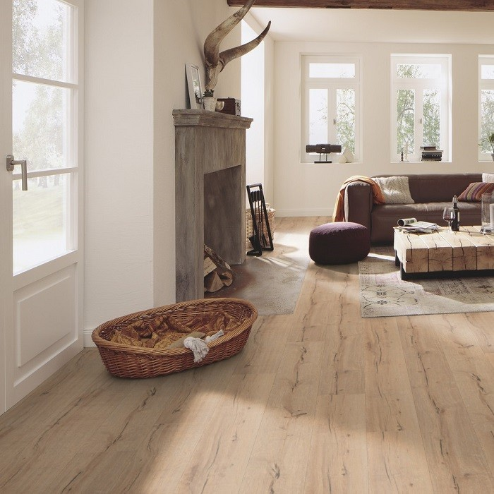 MEISTER GERMAN QUALITY LAMINATE FLOORING DD300 CATEGA FLEX COLLECTION LIGHT CRACKED OAK 5MM