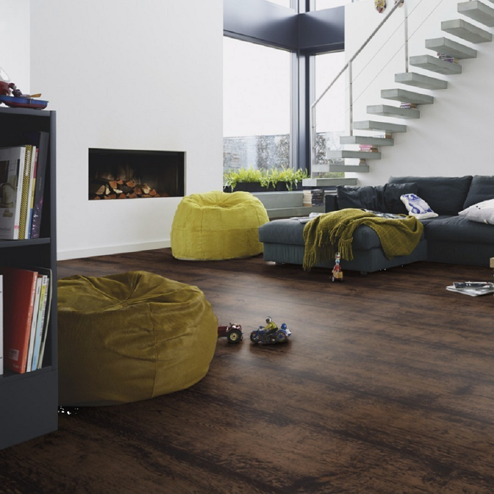 MEISTER GERMAN QUALITY ENGINEERED WOOD FLOORING HD300 LINDURA COLLECTION BLACK WASHED OAK RUSTIC BRUSHED NATURALLY OILED 270MM