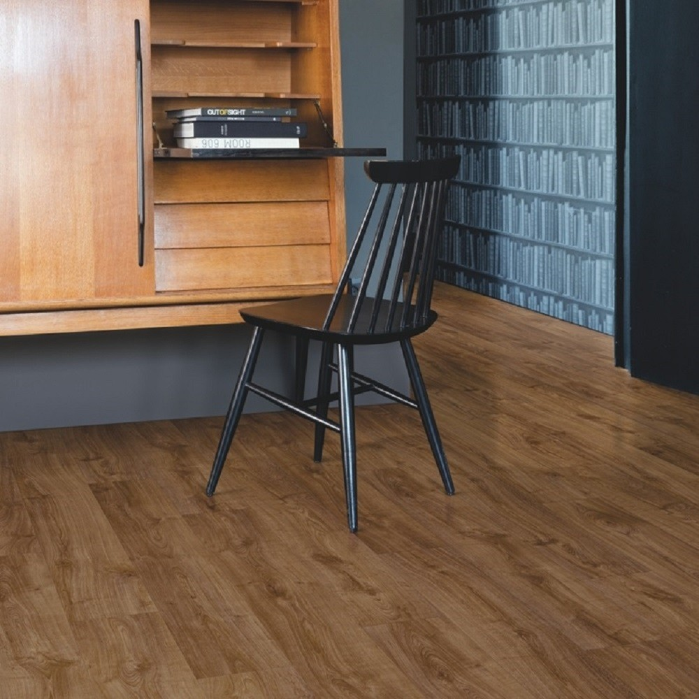 QUICK STEP VINYL WATERPROOF PULSE CLICK COLLECTION AUTUMN OAK BROWN  FLOORING 4.5mm