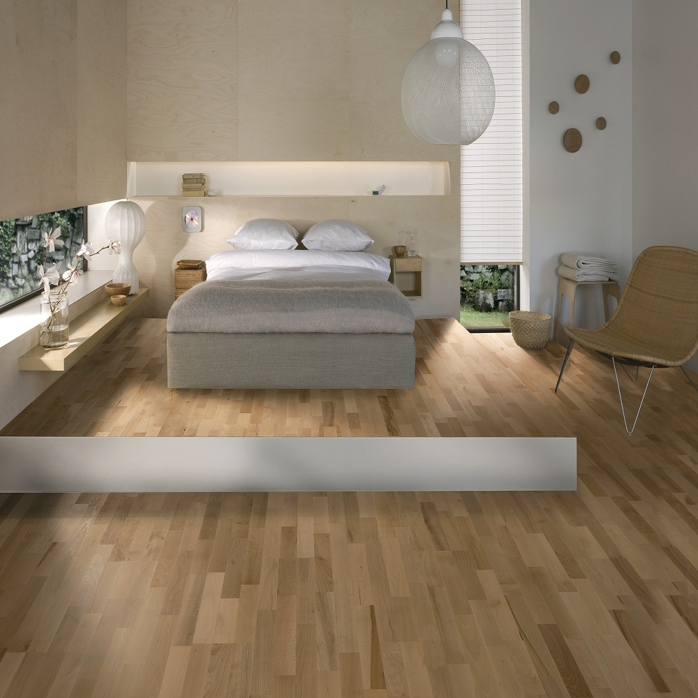 KAHRS Nordic Naturals Beech Viborg Satin Lacquer Swedish Engineered Flooring 200mm- CALL FOR PRICE