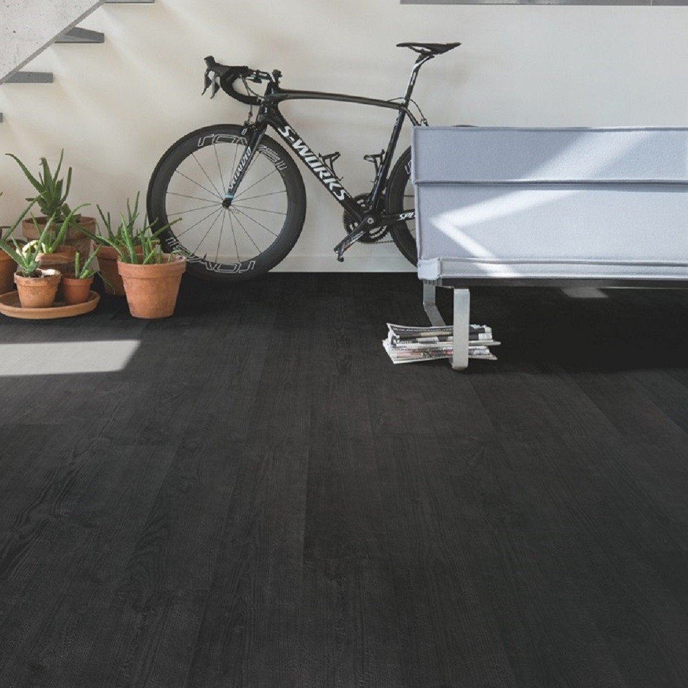QUICK STEP LAMINATE IMPRESSIVE COLLECTION BURNED PLANKS FLOORING 8mm