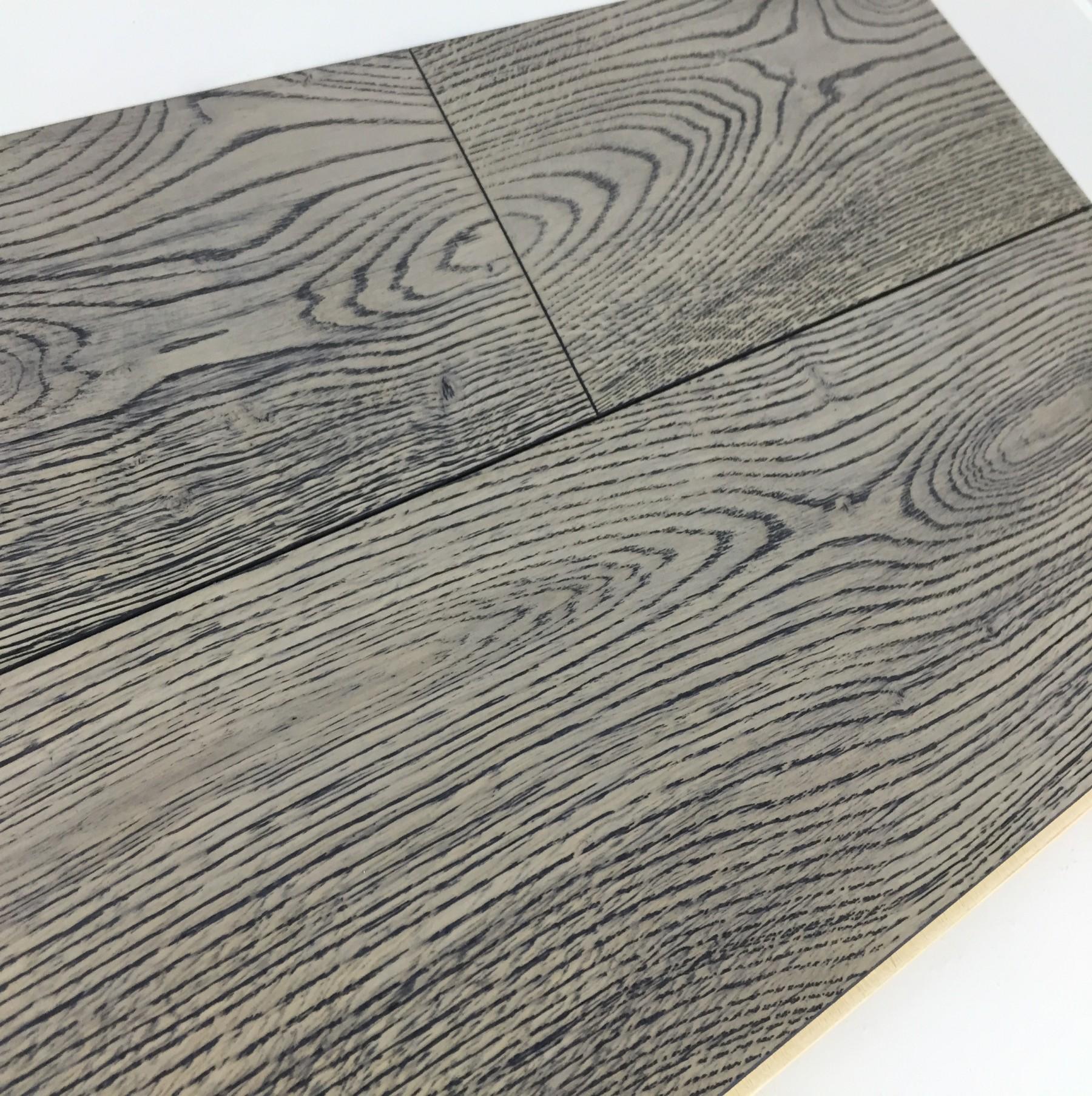 Grisea Oak Flooring Lightly Brushed Matt UV Lacquered, Grey