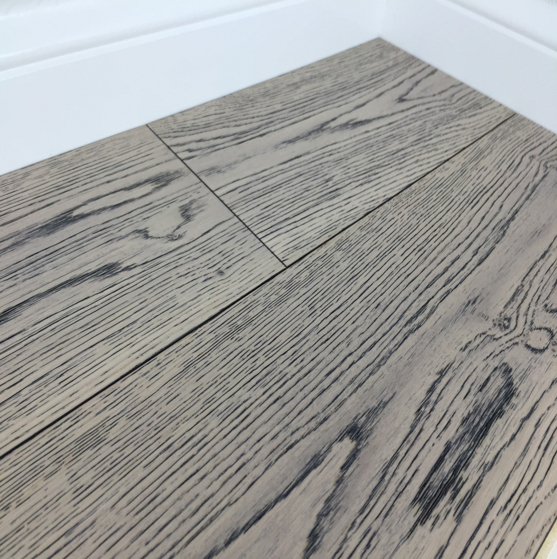 Grisea Oak Flooring Lightly Brushed Matt UV Lacquered, Silver