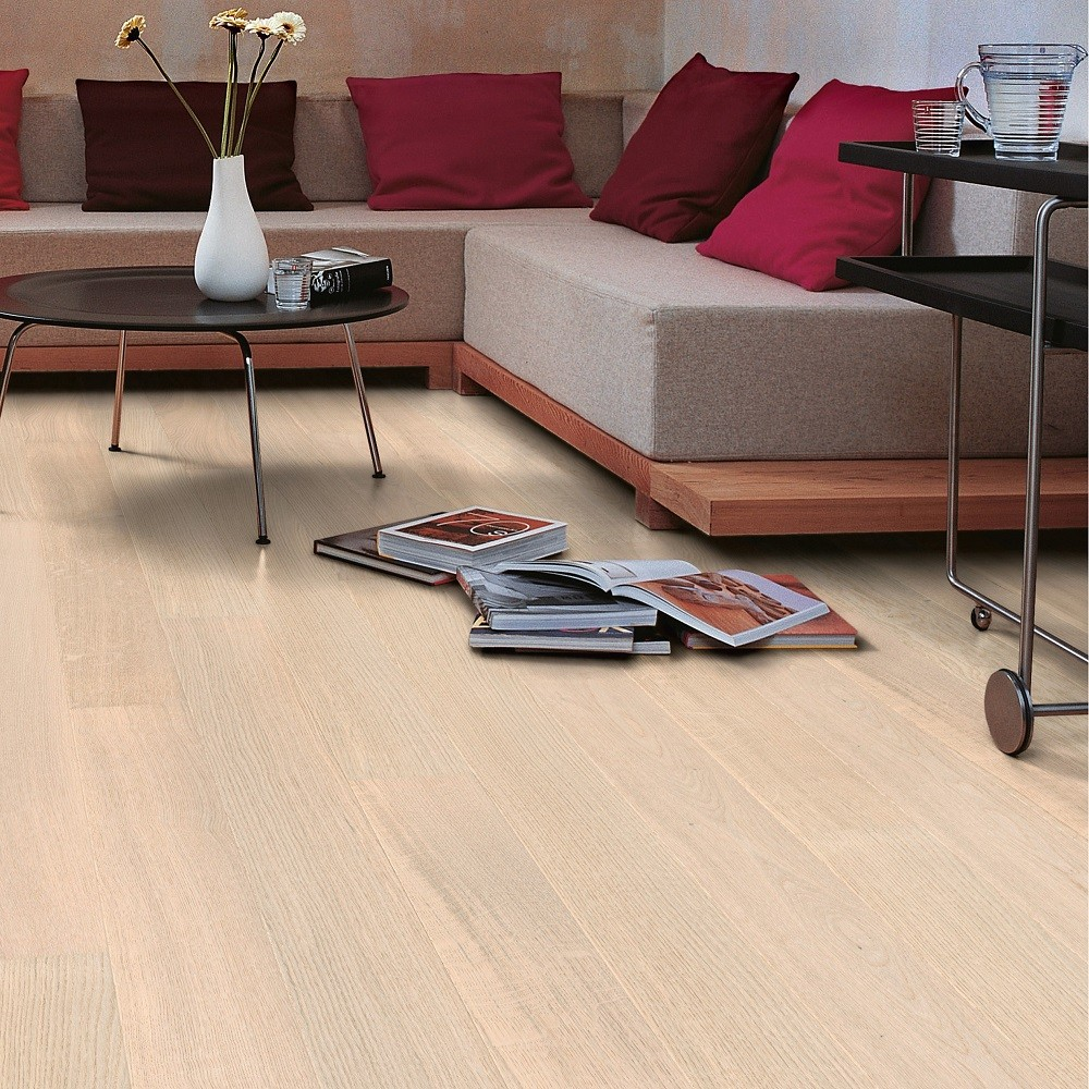 QUICK STEP ENGINEERED WOOD PALAZZO COLLECTION OAK  POLAR MATT LACQUERED FLOORING 120x1820mm