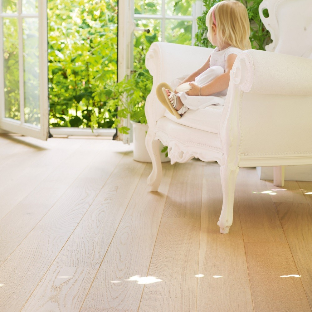 QUICK STEP ENGINEERED WOOD CASTELLO COLLECTION  POLAR OAK MATT LACQUERED FLOORING 145x1820mm
