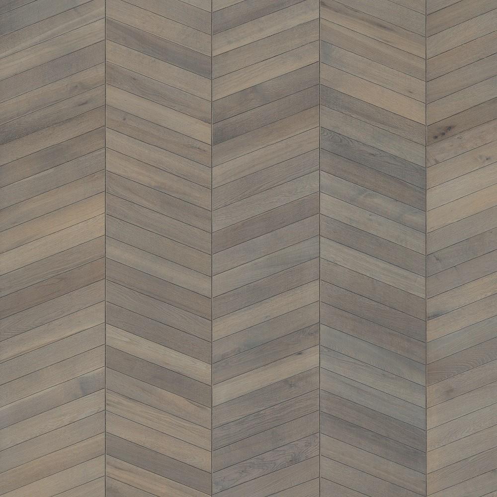 KAHRS Chevron Oak  Grey Oiled Swedish Engineered Flooring 305mm