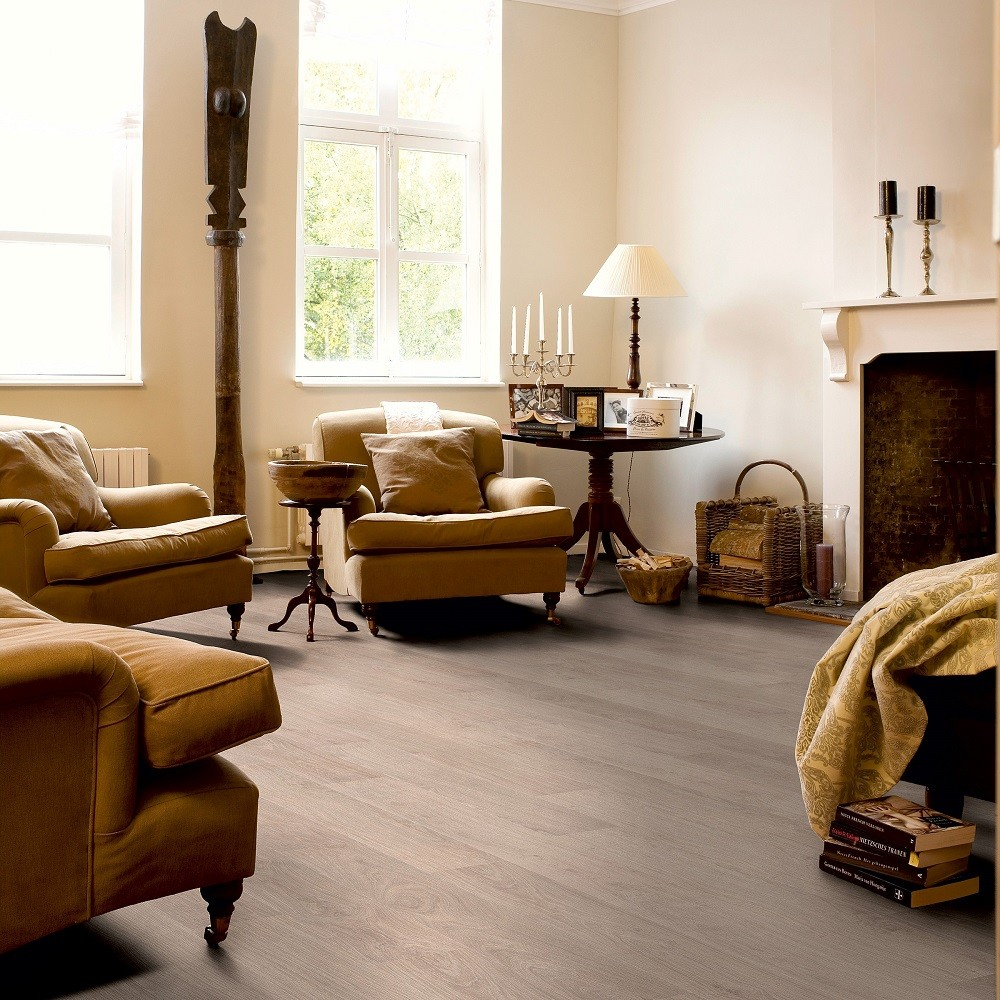QUICK STEP LAMINATE CLASSIC COLLECTION BLEACHED WHITE FLOORING 8mm