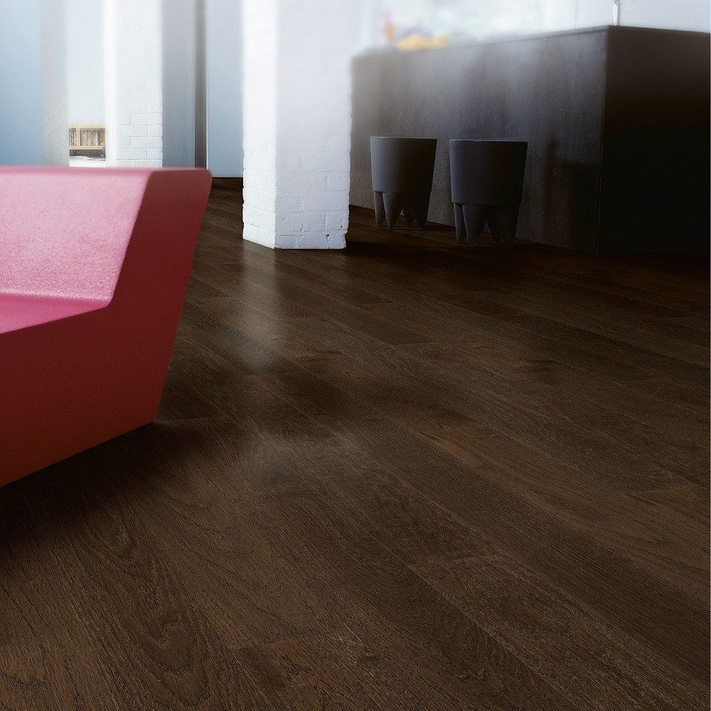 QUICK STEP ENGINEERED WOOD CASTELLO COLLECTION COFFEE BROWN OAK MATT LACQUERED FLOORING 145x1820mm