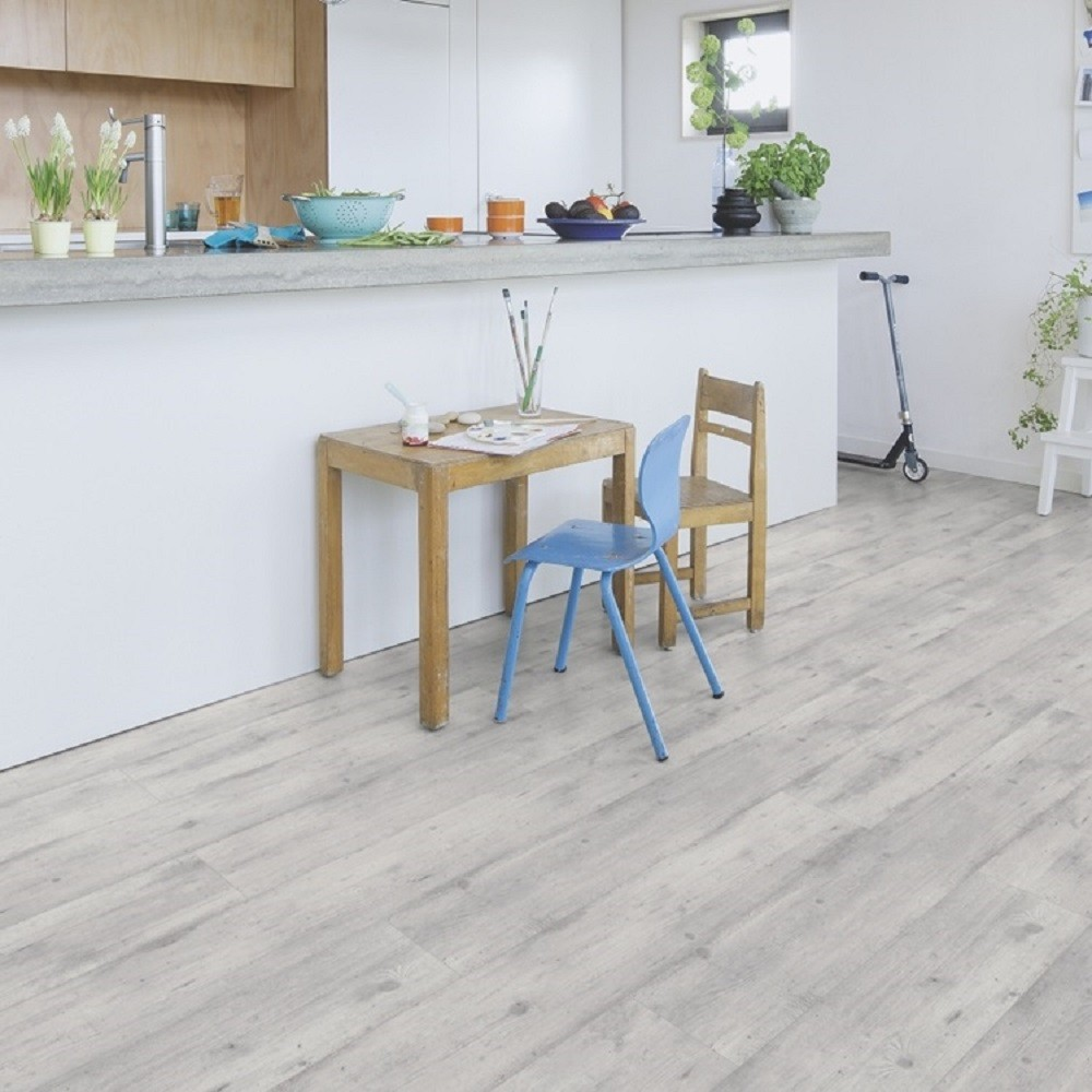 QUICK STEP LAMINATE IMPRESSIVE COLLECTION CONCRETE WOOD LIGHT GREY FLOORING 8mm