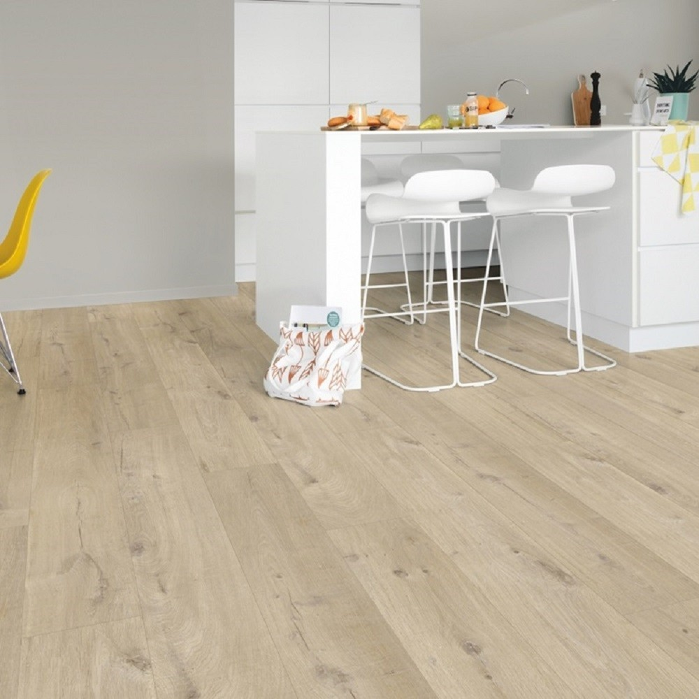 QUICK STEP VINYL WATERPROOF PULSE CLICK COLLECTION COTTON OAK BEIGE  FLOORING 4.5mm