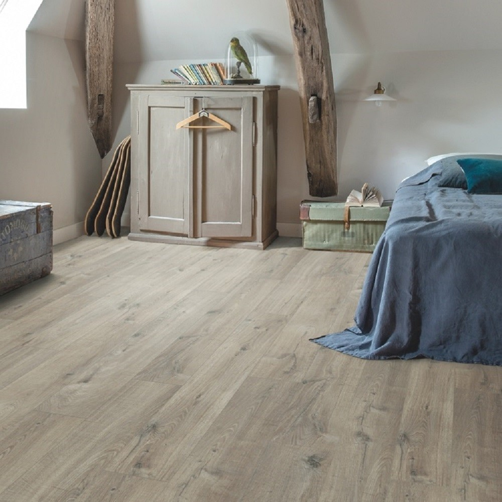 QUICK STEP VINYL WATERPROOF PULSE CLICK COLLECTION COTTON OAK GREY FLOORING 4.5mm