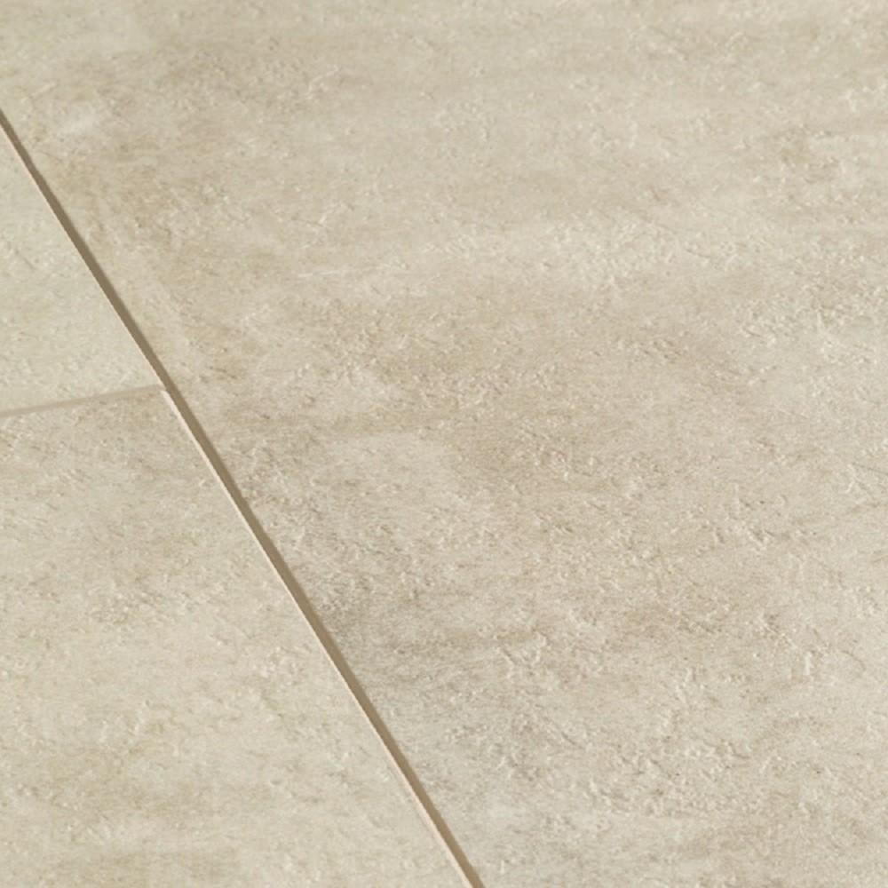 QUICK STEP VINYL WATERPROOF AMBIENT CLICK COLLECTION CREAM TRAVERTIN  FLOORING 4.5mm