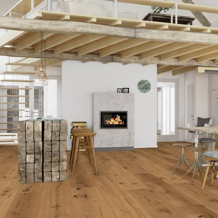 BOEN ENGINEERED WOOD FLOORING RUSTIC COLLECTION CHALET EPOCA  OAK RUSTIC BRUSHED HANDSCRAPPED OILED 200MM - CALL FOR PRICE