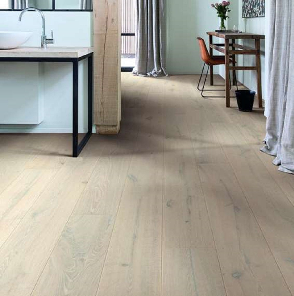 QUICK STEP ENGINEERED WOOD IMPERIO COLLECTION OAK EVEREST WHITE EXTRA MATT LACQUERED FLOORING 220x2200mm