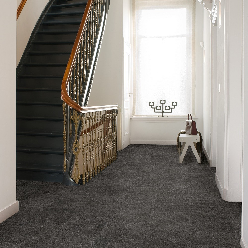 QUICK STEP LAMINATE EXQUISA  COLLECTION  SLATE BLACK FLOORING  8mm
