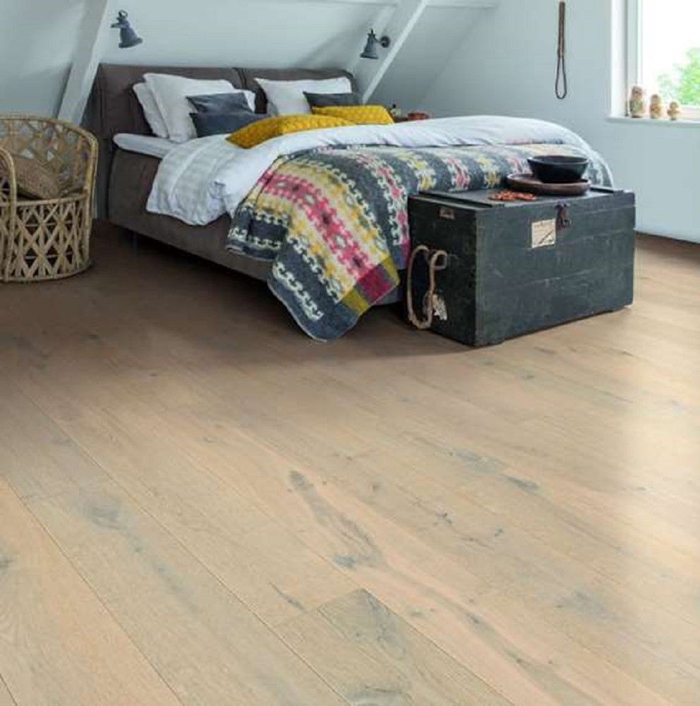 QUICK STEP ENGINEERED WOOD PALAZZO COLLECTION OAK GLACIAL OAK  EXTRA MATT LACQUERED FLOORING 120x1820mm