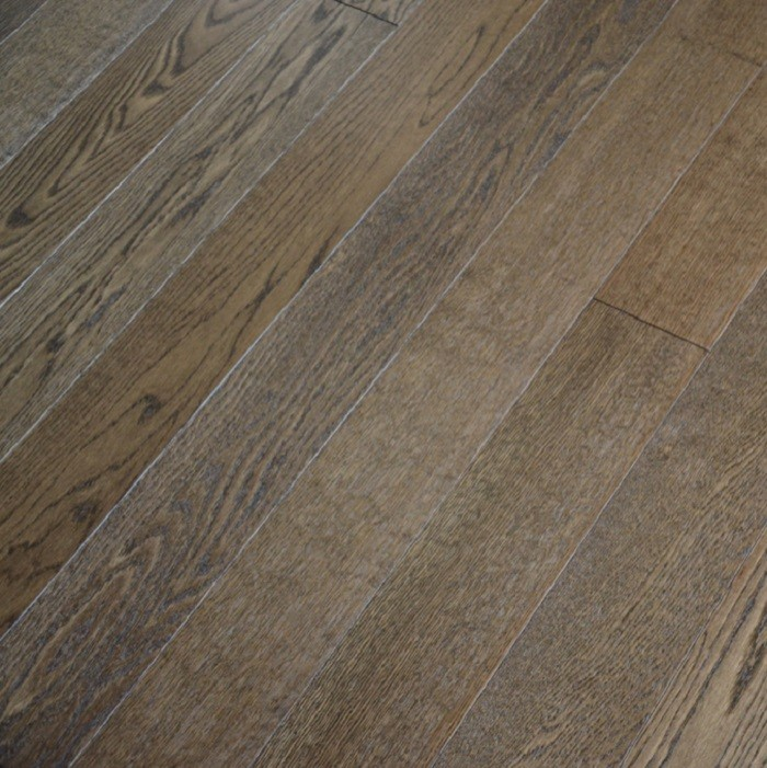 YNDE-BUCKS ENGINEERED WOOD BUCKINGHAM COLLECTION  SMOKY BRUSHED OAK LACQUERED 127x1200mm