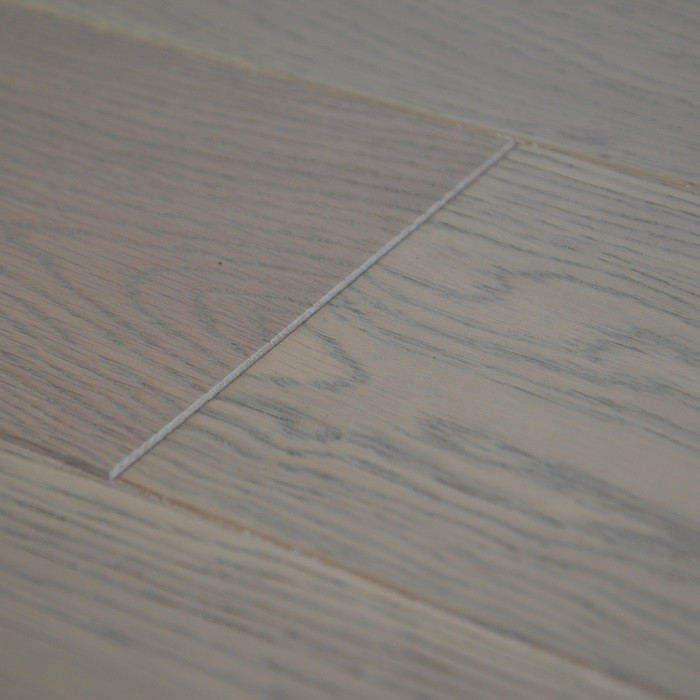YNDE-BUCKS ENGINEERED WOOD BUCKINGHAM COLLECTION  WHITE BRUSHED OAK LACQUERED 127x1200mm