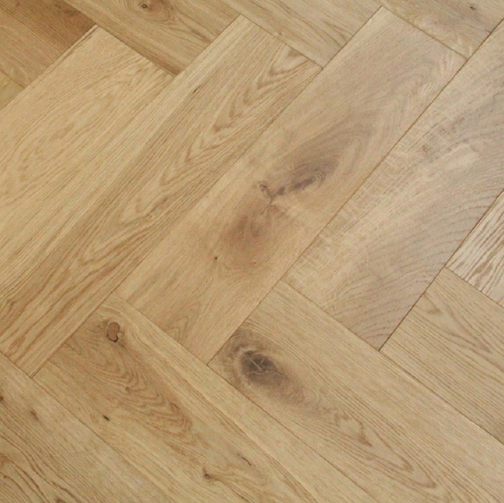 Maxi Herringbone Oak Brushed Uv Oiled Engineered Wood