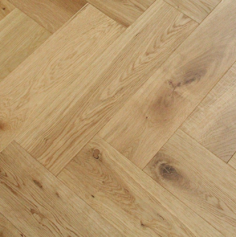 Maxi Herringbone Oak Brushed  UV Oiled Engineered Wood Flooring 120x600mm