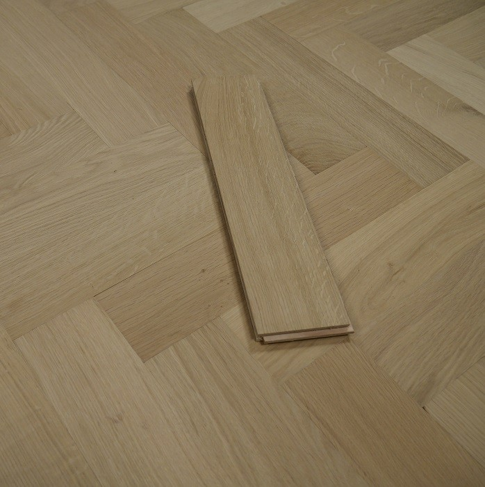 YNDE-PARQUET HERRINBONE ENGINEERED WOOD FLOORING CLASSIC UNFINISHED OAK 70x300mm