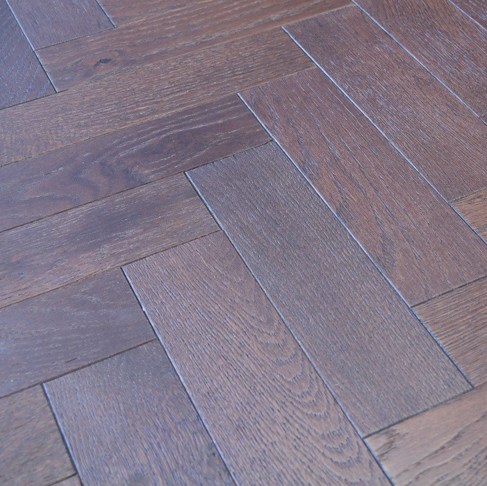 YNDE-PARQUET HERRINBONE ENGINEERED WOOD FLOORING WALNUT STAINED BRUSHED MATT LAC 80x300mm