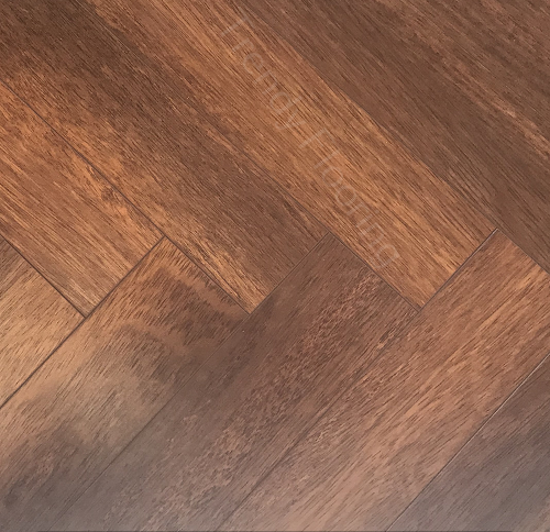 NATURAL SOLUTIONS CHATEAU HERRINGBONE MERBAU LAMINATE WOOD FLOORING 8MM