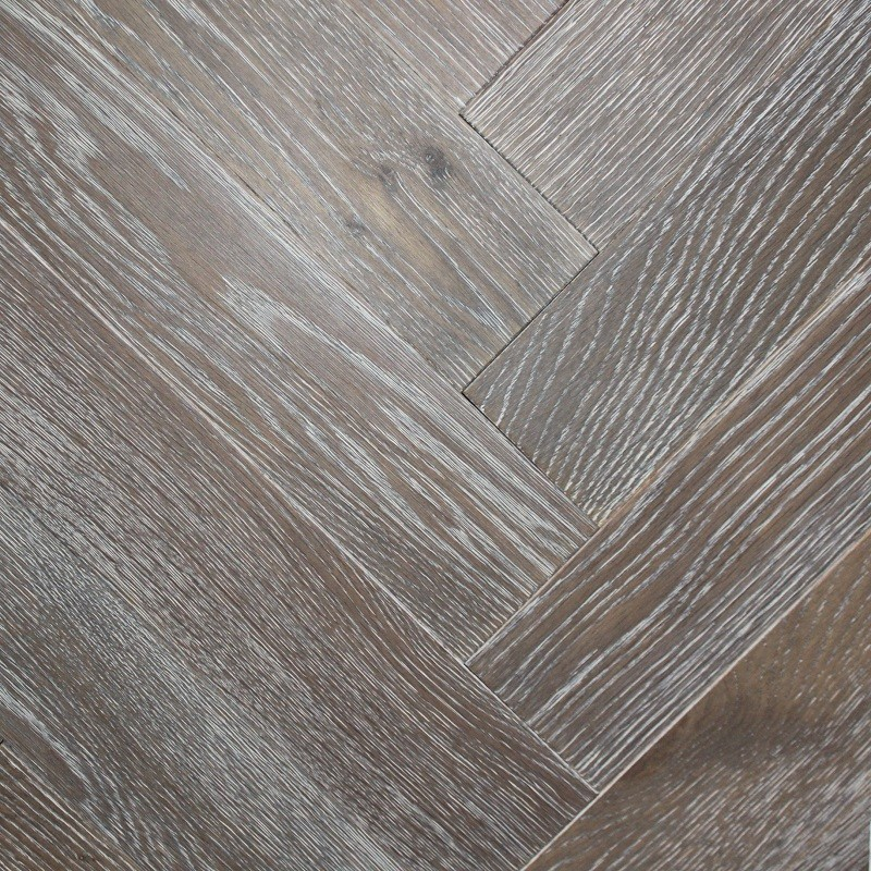 Denoel Engineered Oak Oiled Silver Haze  Parquet Flooring 90 x 360mm