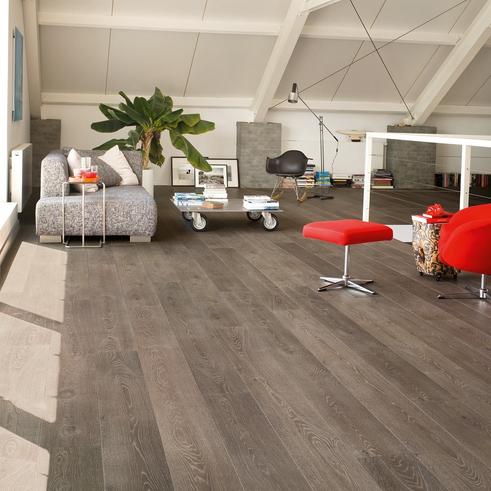 QUICK STEP LAMINATE LARGO  COLLECTION OAK  GREY VINTAGE FLOORING 205x2050mm