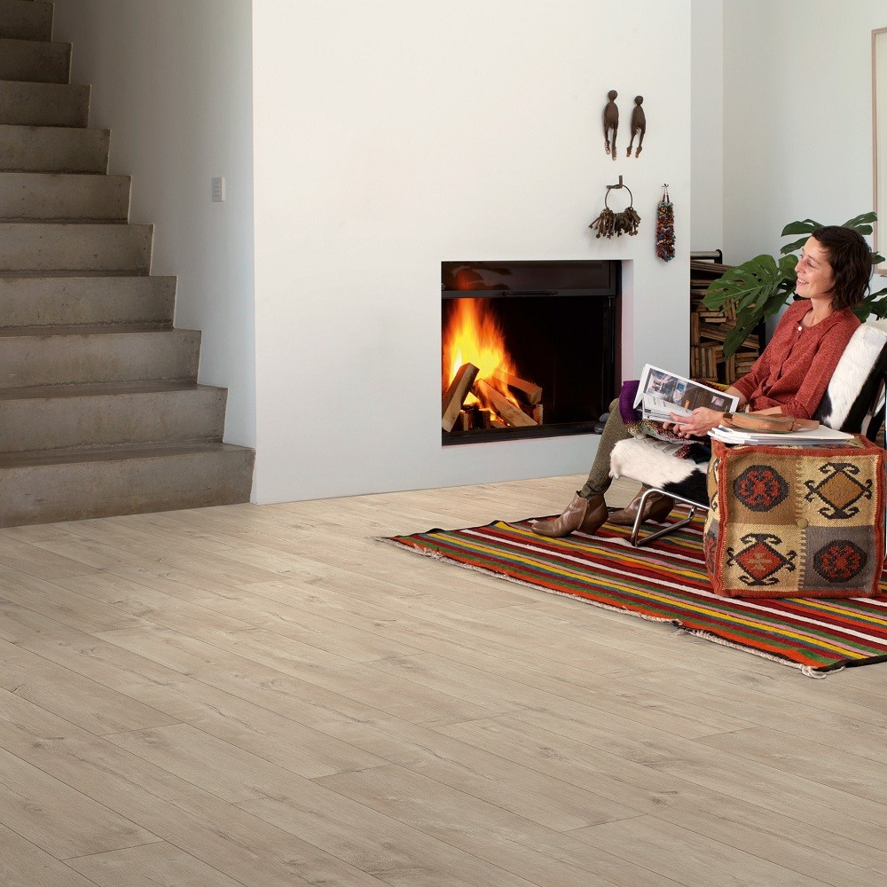 QUICK STEP LAMINATE LARGO  COLLECTION OAK  DOMINICANO NATURAL  FLOORING 9.5mm