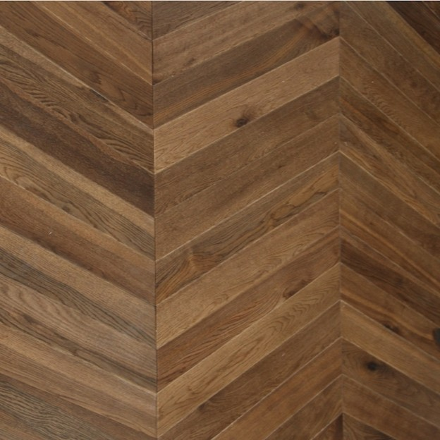 Maxi Chevron Collection Oak  Double Smoked Oiled Engineered Wood Flooring  90x600mm