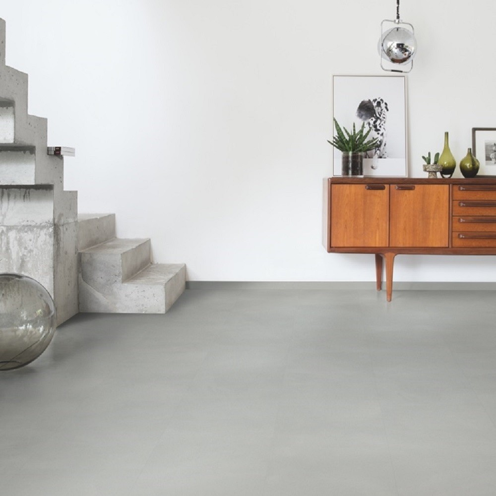 QUICK STEP VINYL WATERPROOF AMBIENT CLICK COLLECTION MINIMAL LIGHT GREY  FLOORING 4.5mm
