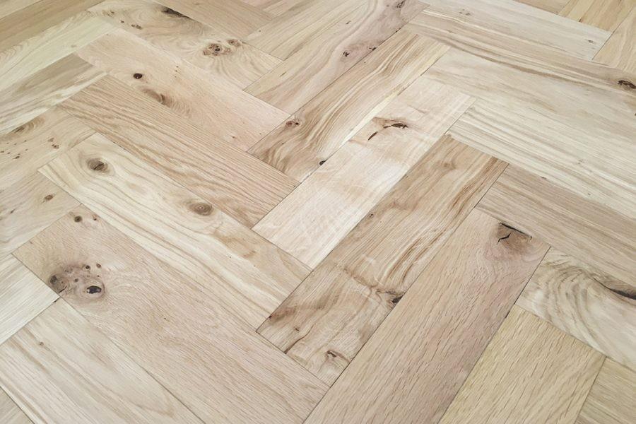 Denoel Engineered Oak Oiled Natural Hardwax Parquet Flooring 90 x 360mm