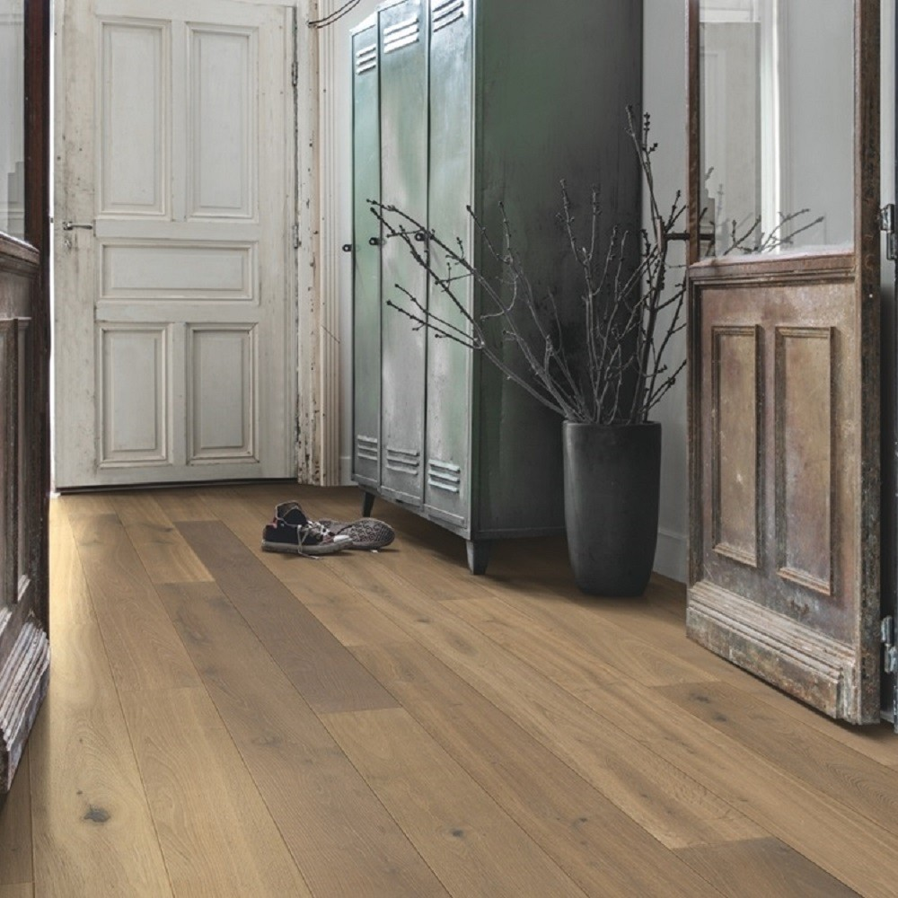 QUICK STEP ENGINEERED WOOD COMPACT COLLECTION OAK NUTMEG OILED FLOORING  145x1820mm