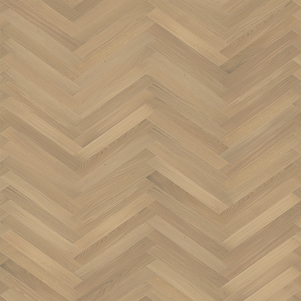 KAHRS Studio Collection Herringbone Swedish Engineered Wood Flooring Oak AB White Oiled 70mm - CALL FOR PRICE