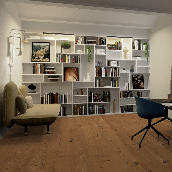 BOEN ENGINEERED WOOD FLOORING RUSTIC COLLECTION CHALETINO HONEY OAK RUSTIC BRUSHED OILED 300MM - CALL FOR PRICE