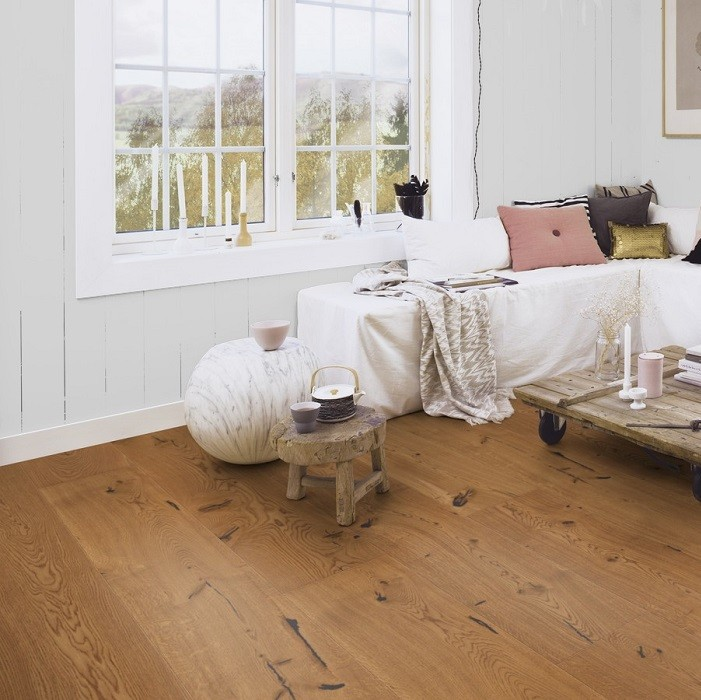 BOEN ENGINEERED WOOD FLOORING RUSTIC COLLECTION CHALET HONEY OAK RUSTIC BRUSHED OILED 200MM - CALL FOR PRICE