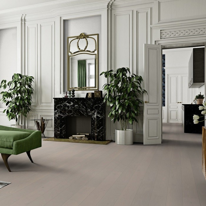 BOEN ENGINEERED WOOD FLOORING URBAN COLLECTION MILD GREY OAK PRIME BRUSHED LIVE PURE LACQUERED 138MM - CALL FOR PRICE