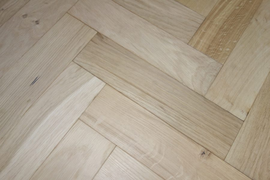 Denoel Engineered Oak Unfinished Parquet Flooring 90 x400mm