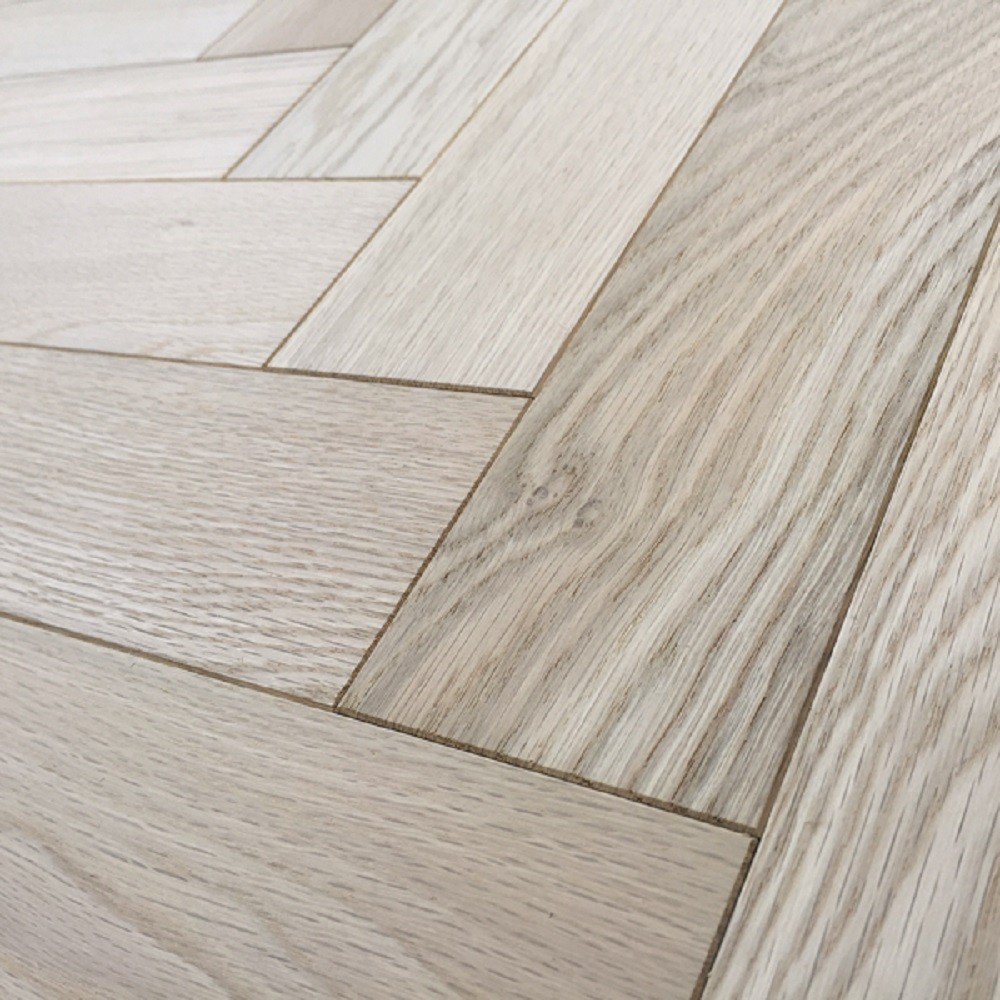Livigna Herringbone SOLID OAK Prime Flooring Unfinished 70 x350mm