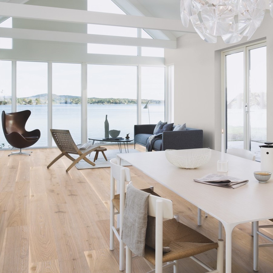 BOEN ENGINEERED WOOD FLOORING NORDIC COLLECTION WHITE NIGHTS OAK  RUSTIC OILED 209MM- CALL FOR PRICE