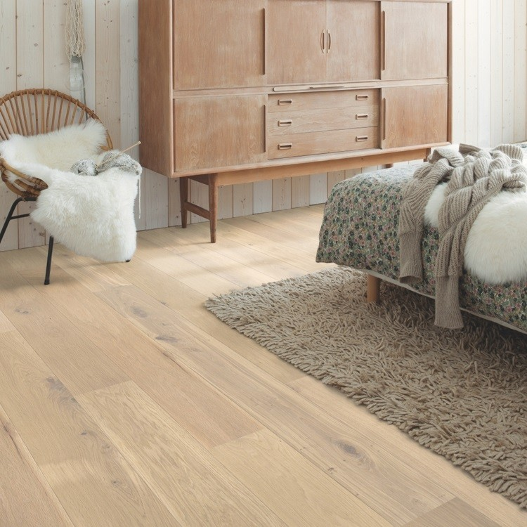 QUICK STEP ENGINEERED WOOD PALAZZO COLLECTION OAK OAT FLAKE WHITE OILED  FLOORING 120x1820mm
