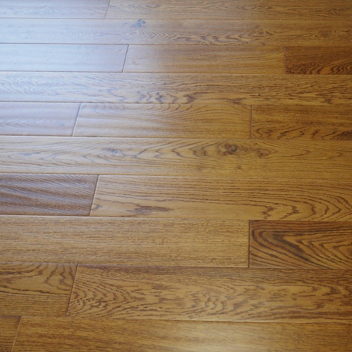 YNDE-125 ENGINEERED WOOD FLOORING GOLDEN RANDOM LENGTH HANDSCRAPED LACQUERED  OAK  125MM