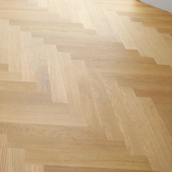 LIVIGNA HERRINGBONE ENGINEERED WOOD FLOORING OAK PRIME  OILED 70X490MM