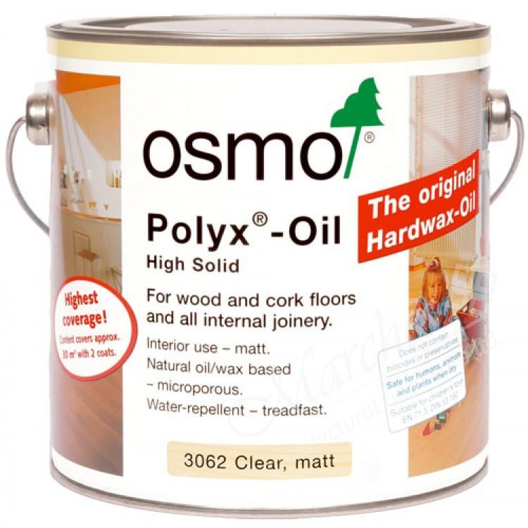 Osmo Polyx Hardwax-Oil Original 3065 Clear Semi-Matt 2.5l